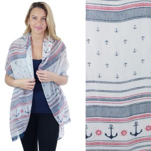 Nautical Print Scarves and Shawls Oblong Scarves - Nautical Prints - 5052 Nautical Print Navy -