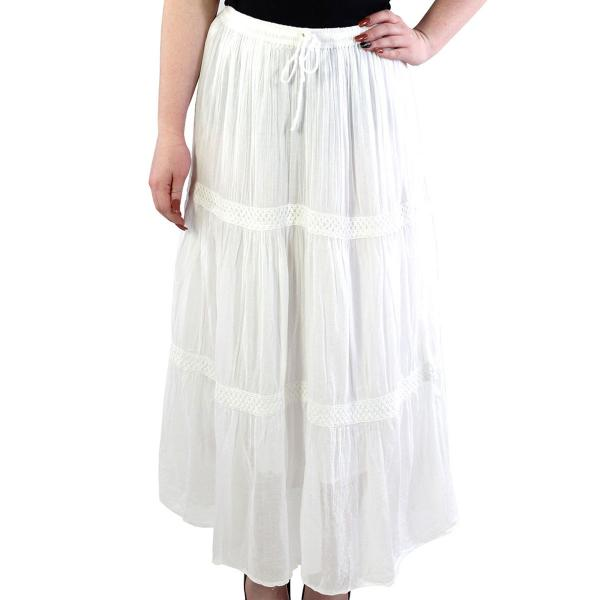 wholesale Classic White Skirt - Tiered 11590 White -