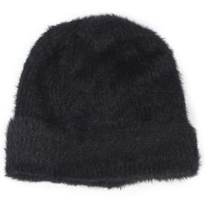 wholesale Knit Winter Hats 9516 Knit Beanie Furry Knit - Black -