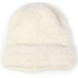 wholesale Knit Winter Hats 9516 Knit Beanie Furry Knit - Ivory -