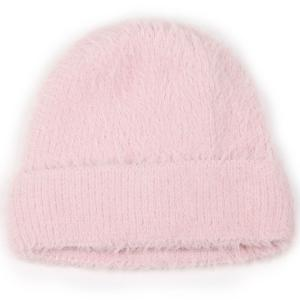 wholesale Knit Winter Hats 9516 Knit Beanie Furry Knit - Pink -
