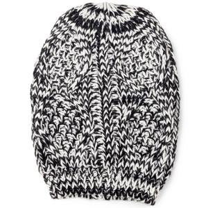 wholesale Knit Winter Hats 8863 Knit Beanie Two Tone - Black -
