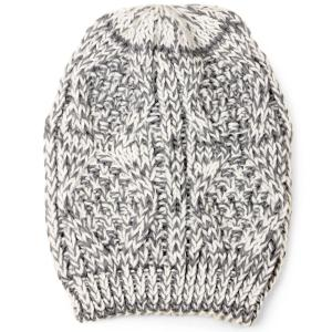 wholesale Knit Winter Hats 8863 Knit Beanie Two Tone - Grey -