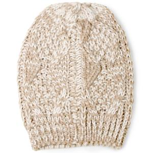 wholesale Knit Winter Hats 8863 Knit Beanie Two Tone - Taupe -