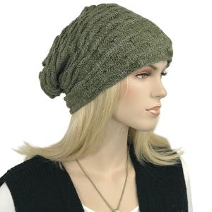 Metallic Print Shawls with Buttons LC:HATSL - Olive Slouchy Knit Hat with Faux Fur Lining -