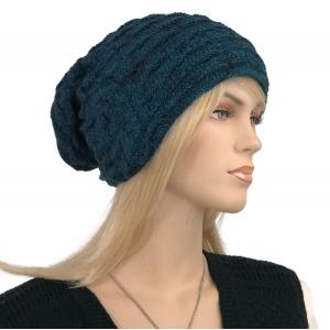 Metallic Print Shawls with Buttons LC:HATSL - Teal Slouchy Knit Hat with Faux Fur Lining -