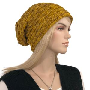Metallic Print Shawls with Buttons LC:HATSL - Mustard Slouchy Knit Hat with Faux Fur Lining -