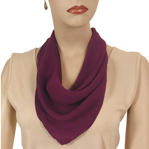 wholesale Magnetic Clasp Scarves (Georgette Triangle) Solid Raspberry -