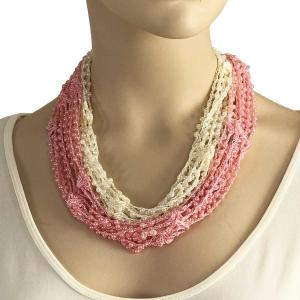 Shanghai Beaded with Magnetic Clasp (A.I.M.) #04 Baby Pink-Ivory w/ Pearls -