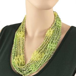 Shanghai Beaded with Magnetic Clasp (A.I.M.) #06 Celery-Lemon Citrus w/ Silver Beads -