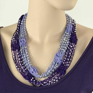 Shanghai Beaded with Magnetic Clasp (A.I.M.) #16 Lilac-Purple w/ Silver Beads -