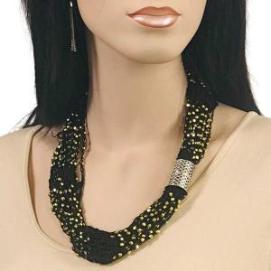 wholesale Shanghai Beaded with Magnetic Clasp (A.I.M.) #01 Black with Gold Beads Shanghai Beaded with Magnetic Clasp -
