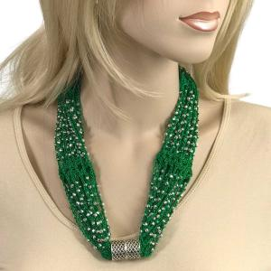 Shanghai Beaded with Magnetic Clasp (A.I.M.) #21 Kelly Green with Silver Beads -