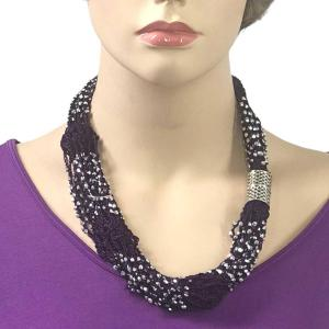 Shanghai Beaded with Magnetic Clasp (A.I.M.) #05 Purple with Silver Beads -