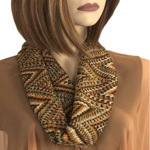 wholesale Magnetic Clasp Scarves (Cotton Touch) #25 Geometric Print Brown -