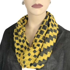 wholesale Magnetic Clasp Scarves (Cotton Touch) #28 Geometric Square Yellow -