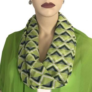 wholesale Magnetic Clasp Scarves (Cotton Touch) #21 Geometric Chevron Green -