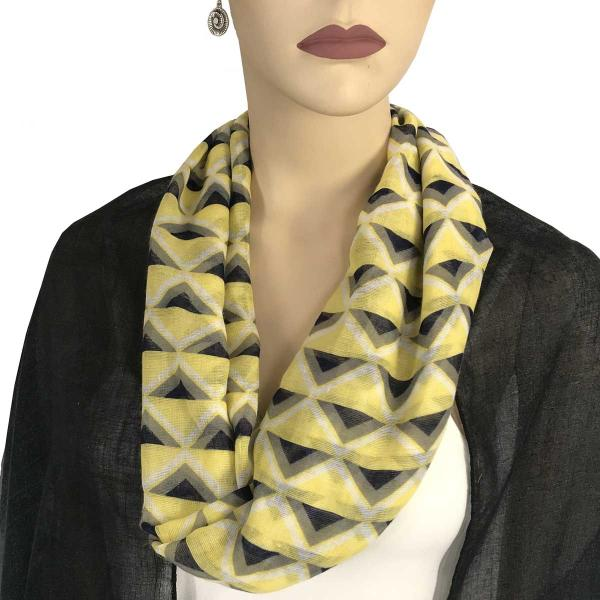 wholesale Magnetic Clasp Scarves (Cotton Touch) #22 Geometric Chevron Yellow -