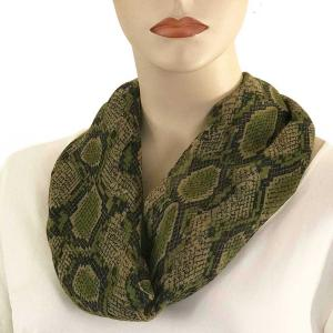 wholesale Magnetic Clasp Scarves (Cotton Touch) #37 Reptile Print Olive -