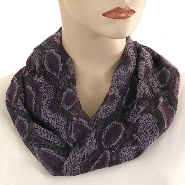 wholesale Magnetic Clasp Scarves (Cotton Touch) #40 Reptile Print Purple -