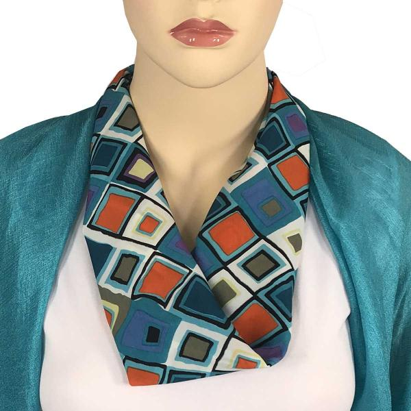 wholesale Magnetic Clasp Scarves (Satin Feel) #06 Geometric 3158 - Multi 3 -