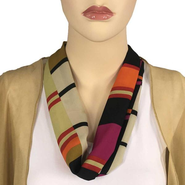wholesale Magnetic Clasp Scarves (Satin Feel) #10 Geometric 3161 - Multi 3 -