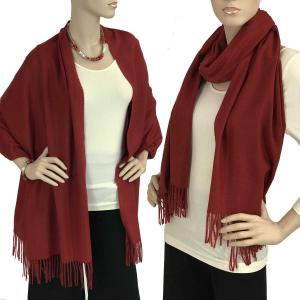 wholesale Cashmere Blend Shawls Solid Burgundy (#12) -