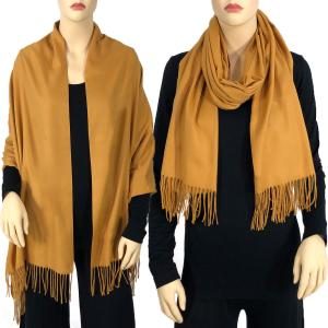 wholesale Cashmere Blend Shawls Solid Mustard (#20) -
