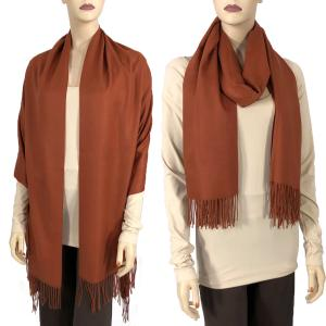 wholesale Cashmere Blend Shawls Solid Paprika (#19) -