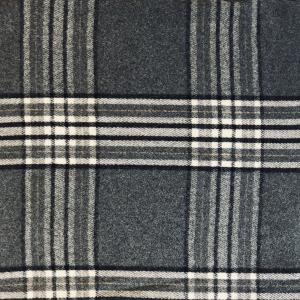 wholesale Cashmere Blend Shawls #06 Plaid Charcoal/Black/White -