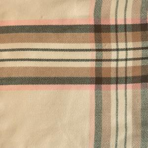 wholesale Cashmere Blend Shawls #05 Plaid Cream/Pink/Grey -
