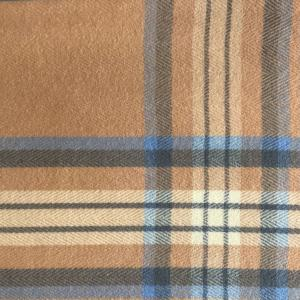 wholesale Cashmere Blend Shawls #11 Plaid Tan/Blue/Grey -