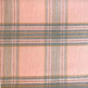 wholesale Cashmere Blend Shawls #13 Plaid Dusty Pink/Grey/Camel -