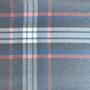 wholesale Cashmere Blend Shawls #15 Plaid Grey/Blue/Coral/Ivory -
