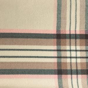 wholesale Cashmere Blend Shawls #17 Plaid Cream/Pink/Grey -