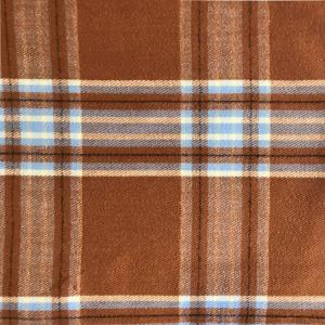 wholesale Cashmere Blend Shawls #22 Plaid Camel/Light Blue/Cream -