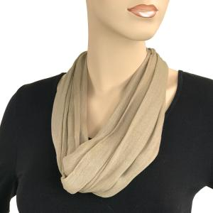 Magnetic Clasp Scarves (Cotton/Silk 100) #17 Taupe -
