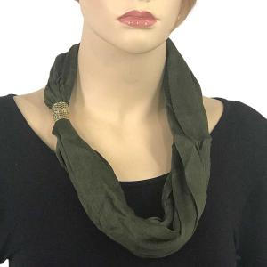Magnetic Clasp Scarves (Cotton/Silk 100) #05 Chive -