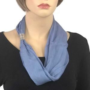 Magnetic Clasp Scarves (Cotton/Silk 100) #06 Faded Denim -