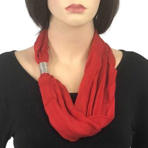 Magnetic Clasp Scarves (Cotton/Silk 100) #10 Flame Scarlet -