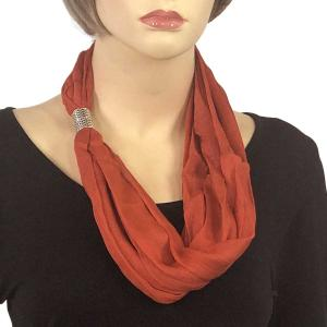 Magnetic Clasp Scarves (Cotton/Silk 100) #08 Cinnamon Stick -