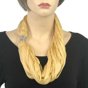 Magnetic Clasp Scarves (Cotton/Silk 100) #19 Sunlight -