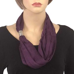 Magnetic Clasp Scarves (Cotton/Silk 100) #07 Grape Compote -