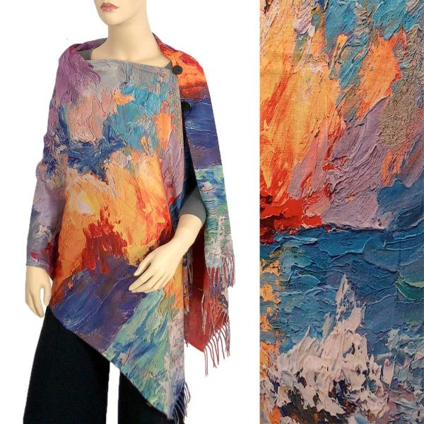 wholesale SUEDE CLOTH Art Design Shawls with Buttons  #11 SUEDE CLOTH Art Design Shawl with Buttons  -