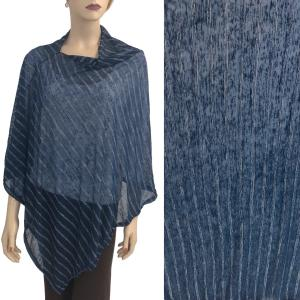 wholesale Poncho - Sheer Striped 9690 Navy -