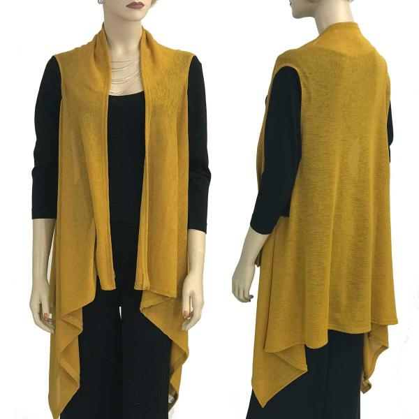 Jersey Knit Vests - Solid Color Texture 9718 Mustard  -
