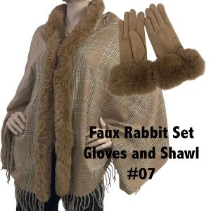 Holiday Gift Ideas Shawl and Gloves Set - Camel 07 - One Size Fits All