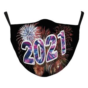 Holiday Gift Ideas #118-2 Fireworks 2021 - Jessica w/ Filter Pocket - New Years' Masks -