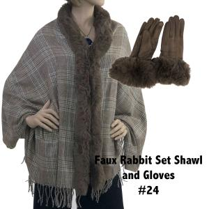 Holiday Gift Ideas Shawl and Gloves Set - Camel 24 - One Size Fits All
