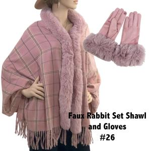 Holiday Gift Ideas Shawl and Gloves Set - Camel 26 - One Size Fits All